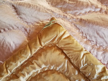 "Vintage Satin Quilt or Throw, Down-Filled, Reversible, 1920s - 1940s, Excellent Condition 66""w. x 80""l."