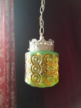 "Glass Pendant Light, Bohemian Colors, 5""h. x 4.5""w. x 3"" round fitter"