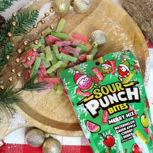 SOUR PUNCH Merry Mix Bites, 9oz Bag