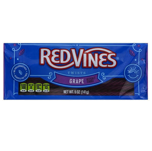 Red Vines Licorice Twists, Grape Flavor, 5oz Tray, front of pack