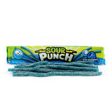 SOUR PUNCH Blue Raspberry Straws, 2oz 24 Ct (Business)