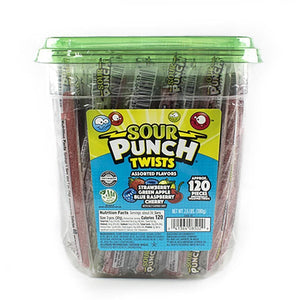 Sour Punch Twists, front of jar