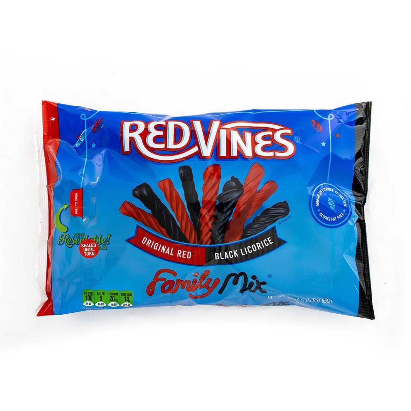 RED VINES Red & Black Licorice Family Mix, 30oz Bag