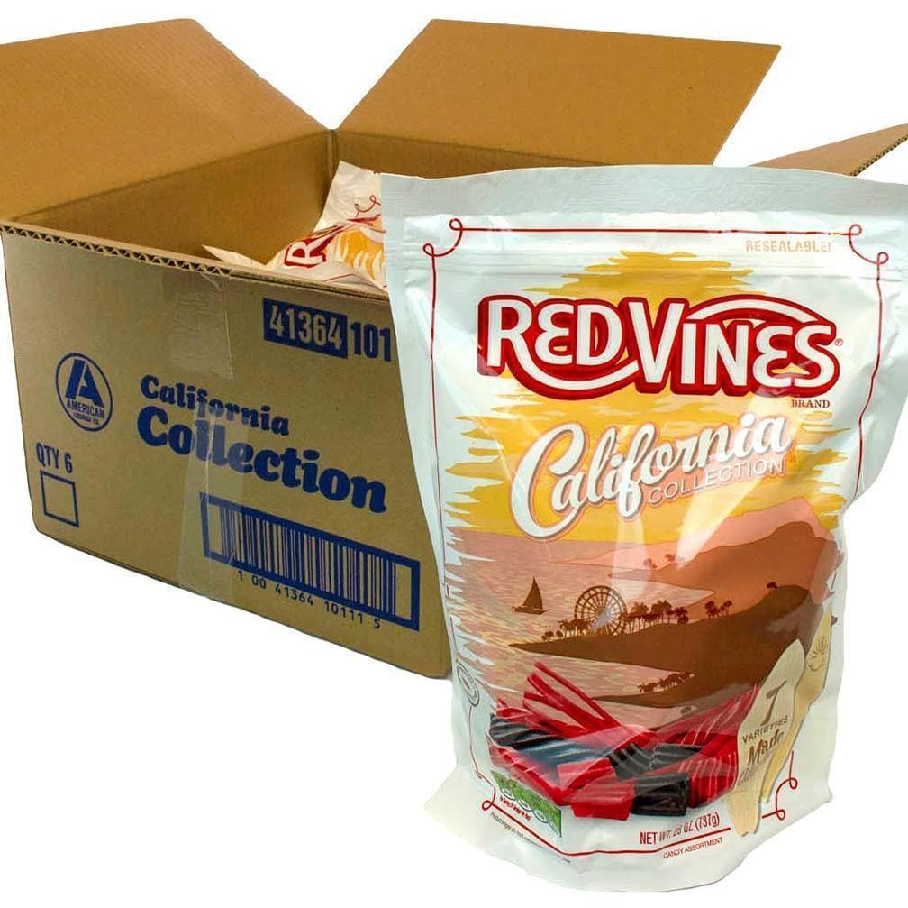 Red Vines Red & Black Licorice Assortment, California Collection, 26oz Bag, front of bag