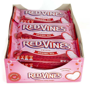 Red Vines Original Red Twists, Valentine's Day Pack (3.5oz), pack of 12