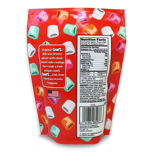 Original Snaps® Classic Chewy Candy, 12oz Bag, Back of Pack Image
