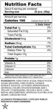 Original Snaps® Classic Chewy Candy, 12oz Bag, Nutrition & Ingredients Image