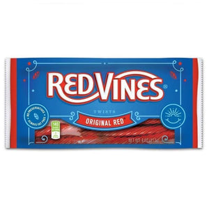 Red Vines Original Red Licorice Twists, Soft & Chewy Candy, 4oz Bag, Front of Pack Image