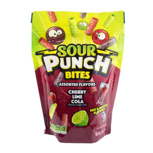 SOUR PUNCH Cherry Lime Cola Bites, 9oz Bag