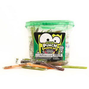 "SOUR PUNCH Monster Mix Halloween 3"" Twists, 2.59lb Jar"