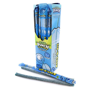 SOUR PUNCH Sip-N-Chew Straws, Blue Raspberry, .9oz (30 count)