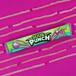 SOUR PUNCH Watermelon Straws, 2oz 24 Ct