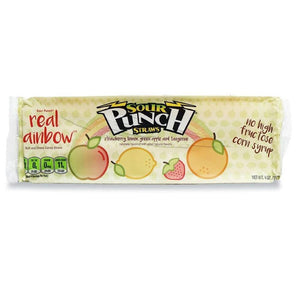 Sour Punch Straws, Real Rainbow, 4oz Tray, Front of Pack Image