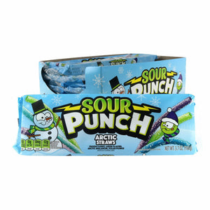 Sour Punch Arctic Flavor Straws 3.7oz Tray
