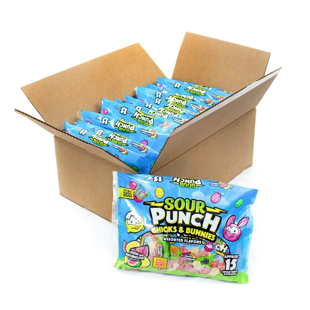 SOUR PUNCH Chicks & Bunnies Easter Candy, 9oz Bag