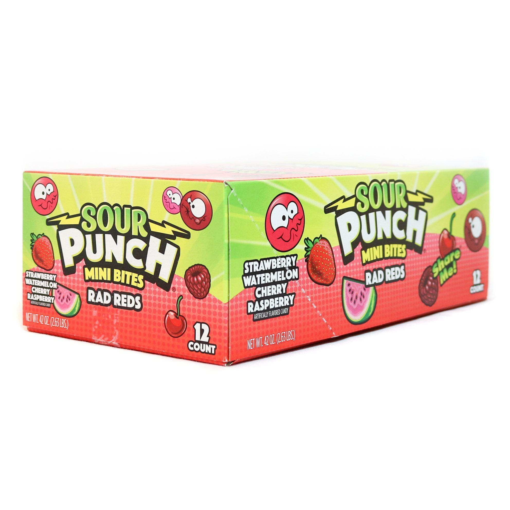 SOUR PUNCH Share Me! Rad Reds 3.5oz 12 Pack