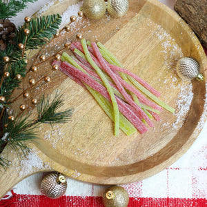 SOUR PUNCH Santa Straws, 3.7oz Tray
