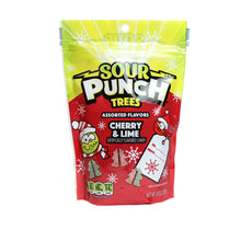 SOUR PUNCH Trees, Festive Tree-Shaped Candy Pieces, 8oz Bag
