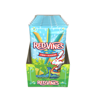 RED VINES Lemon Blueberry Candy Straws, 5oz Bag