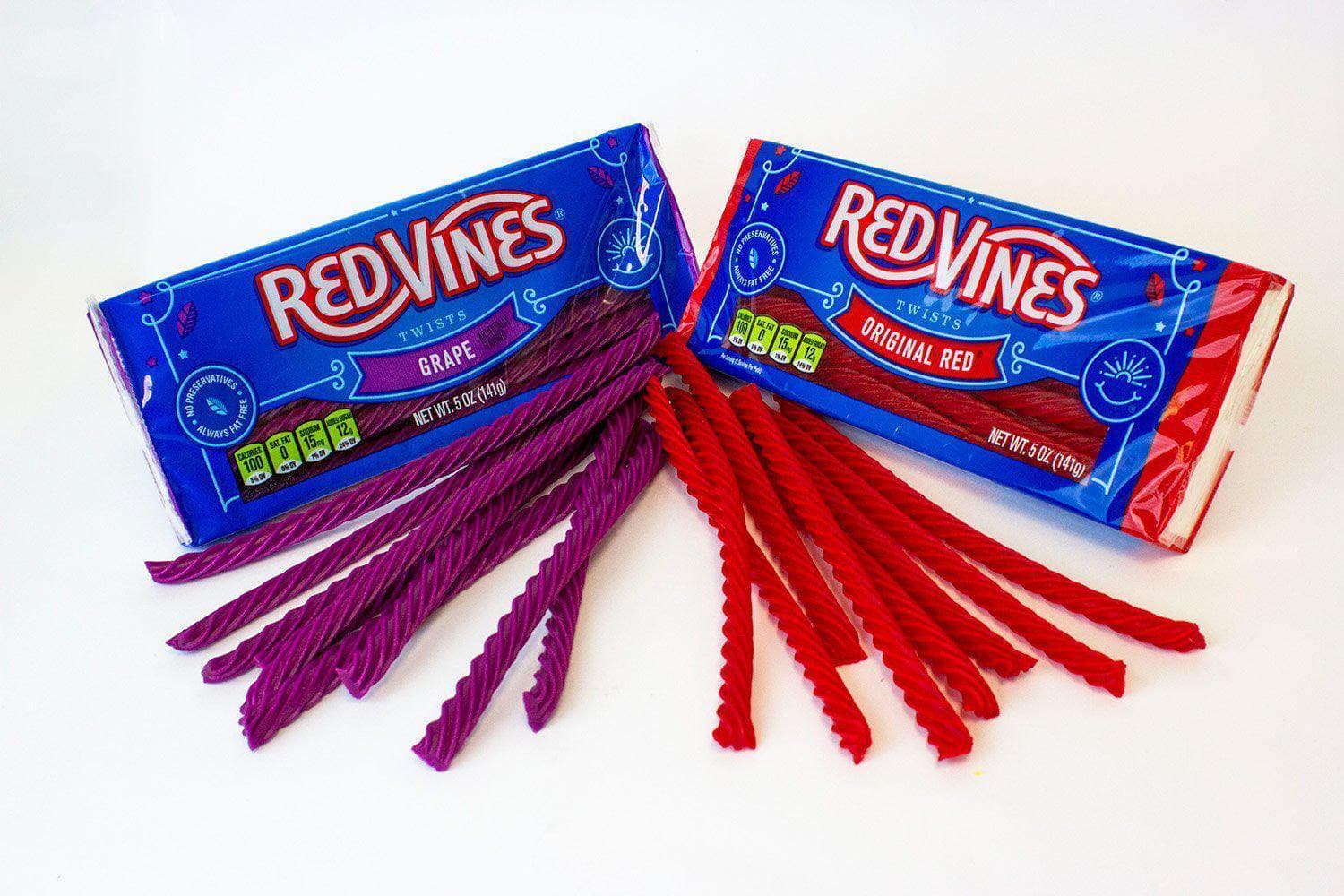 RED VINES Original Red & Grape 4oz Trays