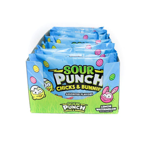 SOUR PUNCH Chicks & Bunnies, 2.5oz Pouch (18-Count)