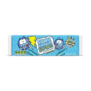 Sour Punch 30th Anniversary Blue Raspberry Straws 4.5oz Tray