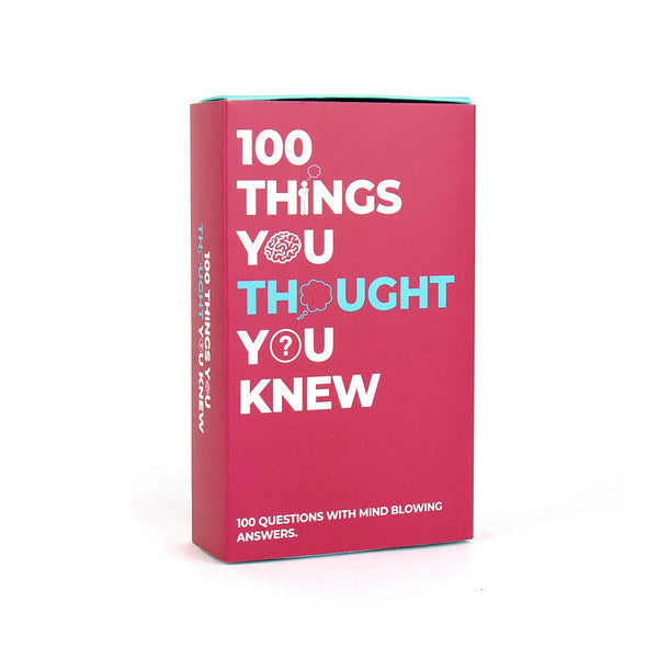 100 Things You Thought You Knew: 100 Questions
