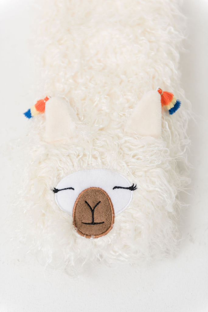 Llama Plush Sherpa Slippers (Available in 2 Colors)