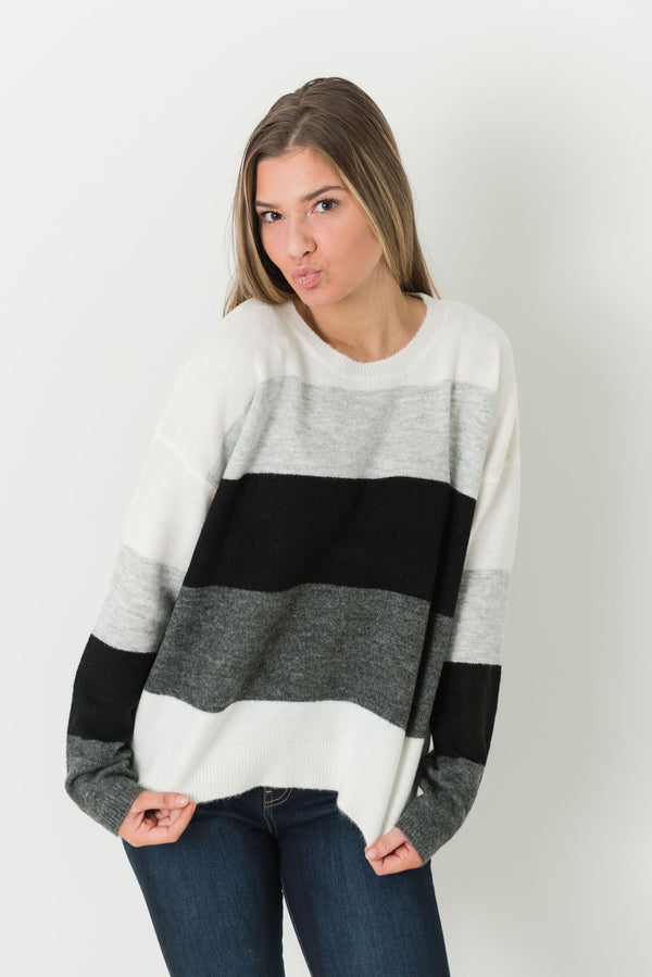Lyric Color Block Sweater (Multi)
