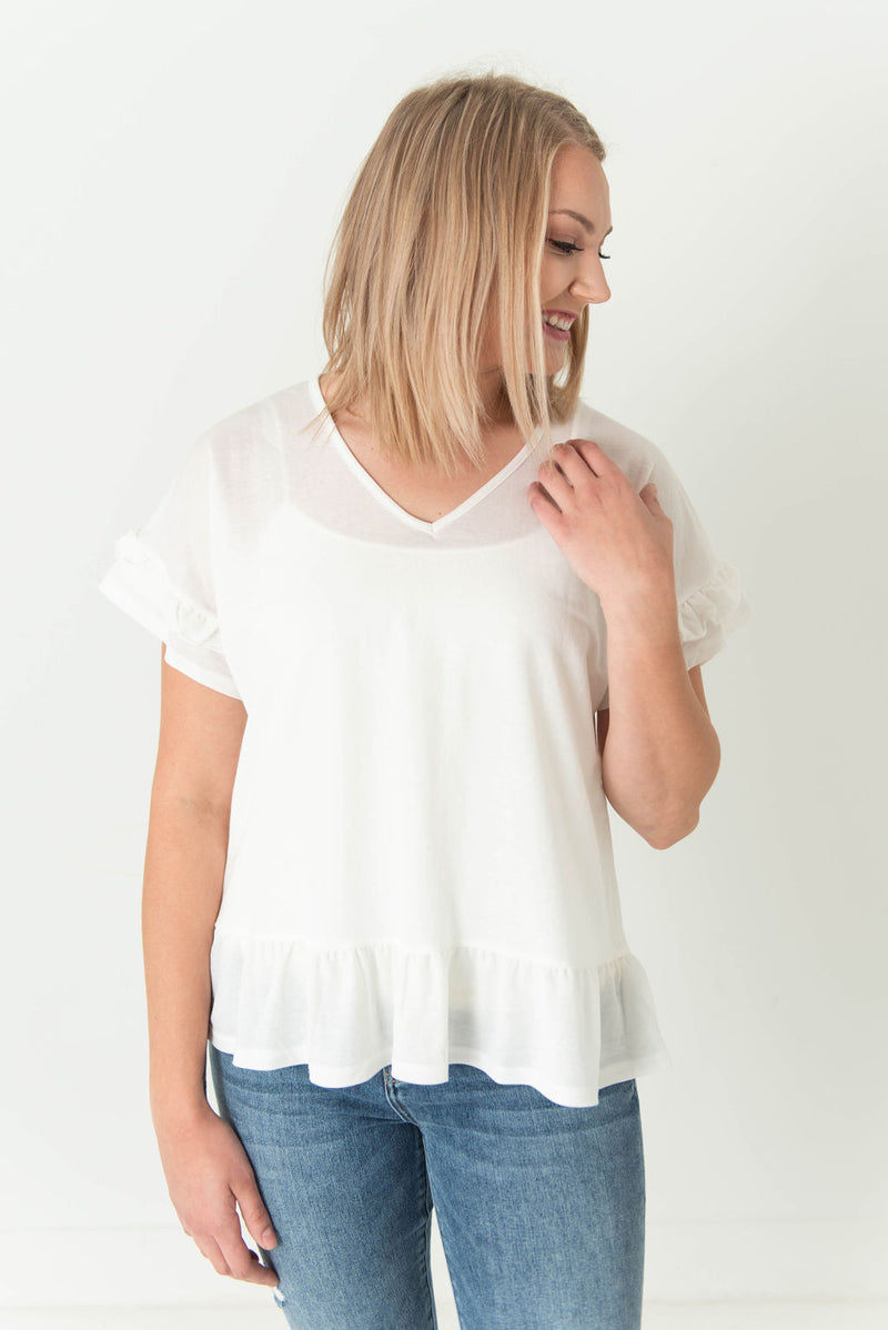 Mae Butterfly Sleeve V-Neck Top
