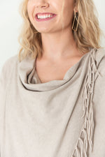 Judith Cowl Neck Wrap Sweater