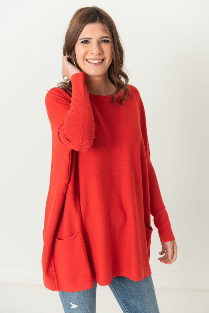 Brooke Oversized Sweater with Pockets (Available in 12 colors)