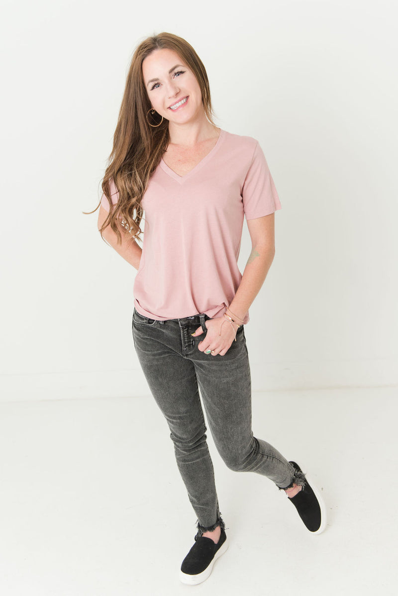Go-To Supima Cotton V-Neck Top