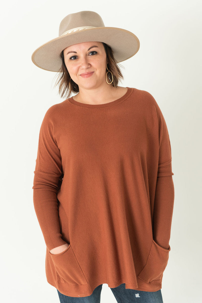 Brooke Oversized Pullover with Pockets (Available in 27 colors)