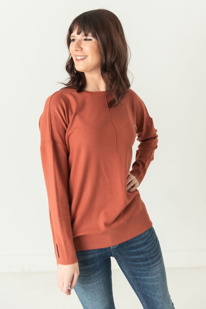Marilyn Soft Knit Round Neck Top