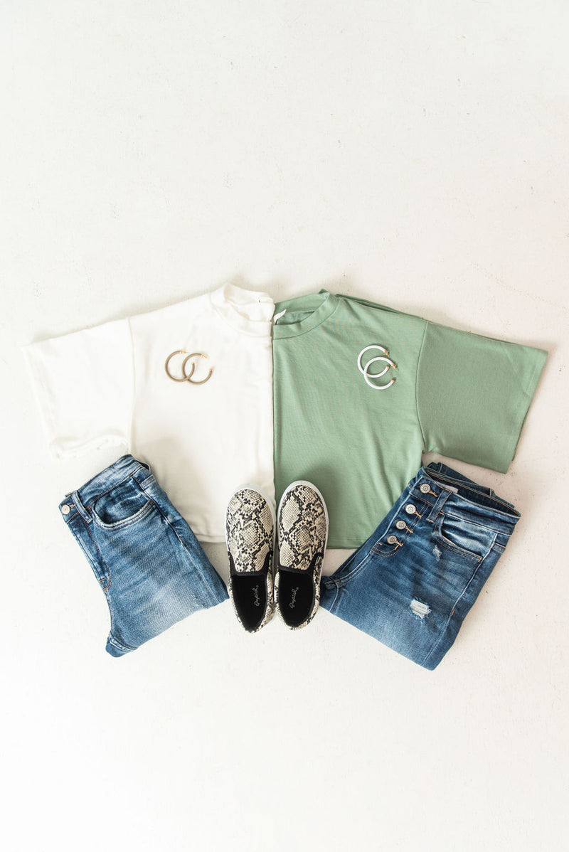 Candace Crop Short Sleeve Top
