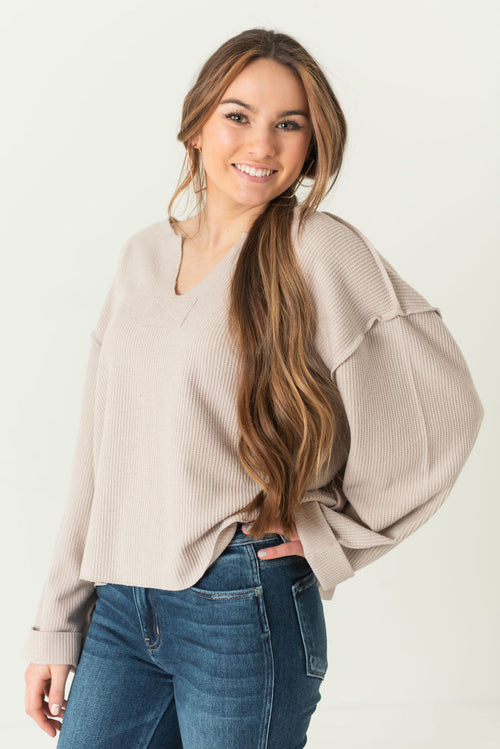 Lou Boxy Wide Sleeve Top