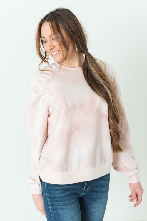 April Tie Dye Sweatshirt Blush