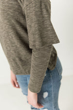 Theresa Ribbed Overlapped Sleeve