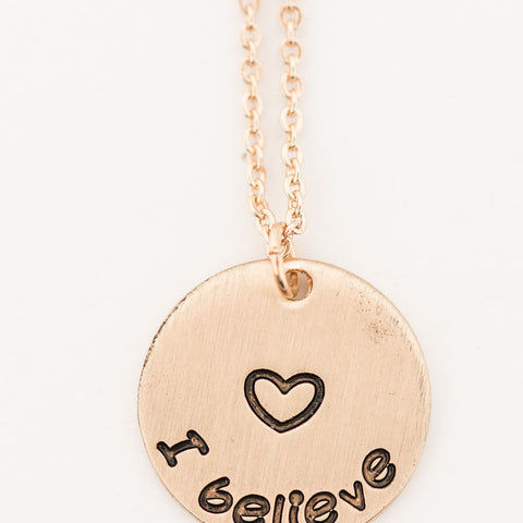 I Believe Necklace (Gold, Silver)