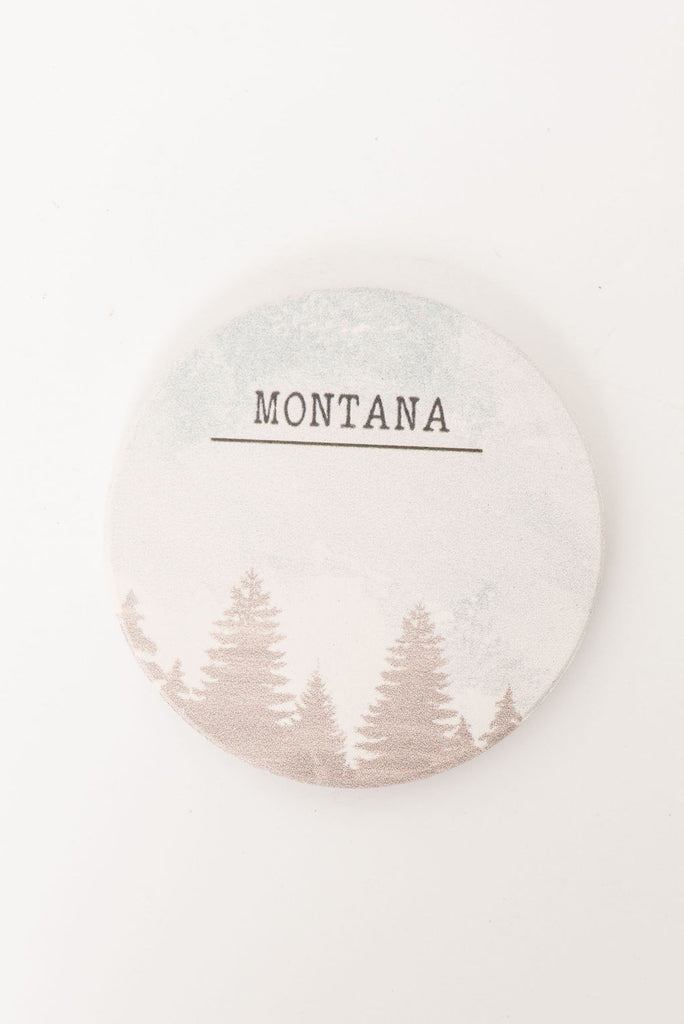 Montana (with Trees) Car Coaster