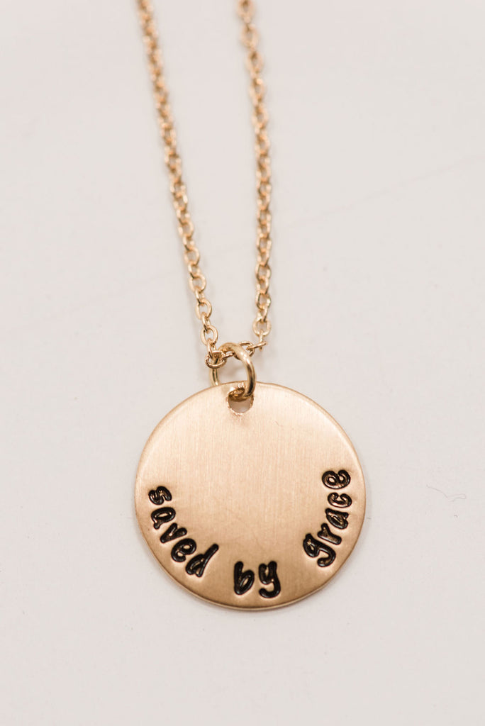 Saved By Grace Necklace (Gold, Silver)