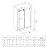 FULLY FRAMELESS SLIDING SHOWER DOOR BP05P2