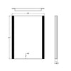 LED BACKLIT BATHROOM VANITY MIRROR W/ TOUCH BUTTON MS0920-3224B