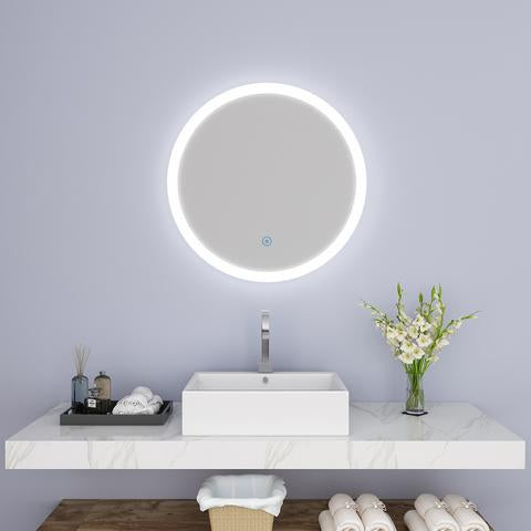ROUND LED BACKLIT BATHROOM VANITY MIRROR W/ TOUCH BUTTON MS0120-2424B