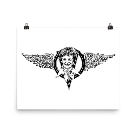 Amelia Earhart Print for Self-Framing