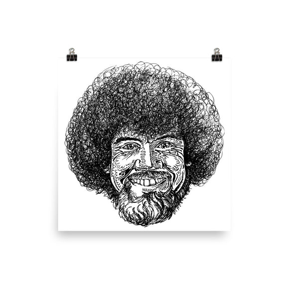 Bob Ross Print for Self-Framing