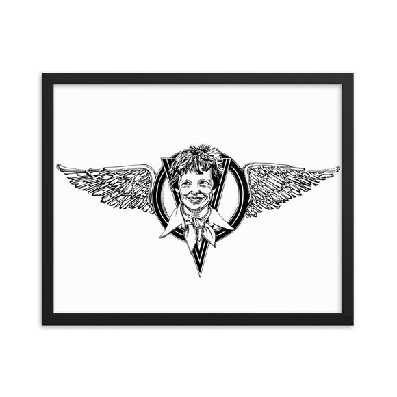 Amelia Earhart Framed Art