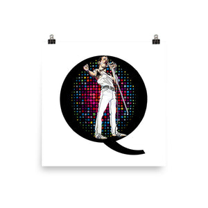 Freddie Mercury Portrait for Self-Framing
