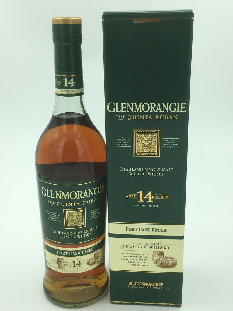 GLENMORANGIE 14 THE QUINTA RUBAN PORT CASK